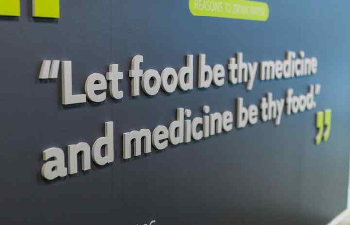 Quote - 'Let food be thy medicine and medicine be thy food'